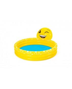 Detský nafukovací bazén emotikon 165 x 144 x 69 cm